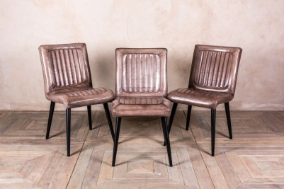 vintage style clay leather chairs
