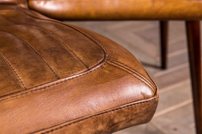 vintage style tan leather seating