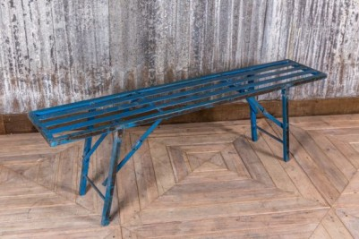 industrial blue bench