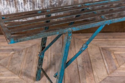 industrial metal folding bench