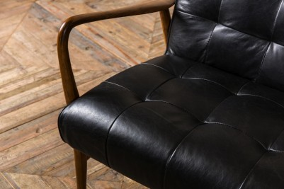 black retro sofa