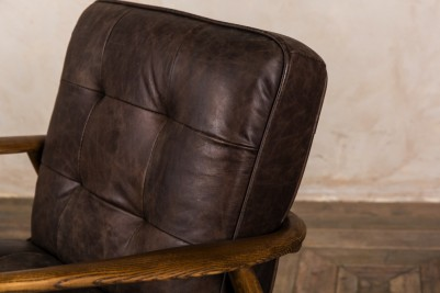 mid century brown armchair