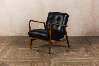 retro black armchair