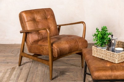 tan modern scandi lounge chair
