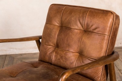 tan retro armchair