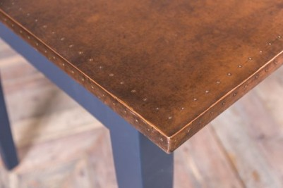 copper topped dining table
