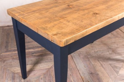 tapered leg table with pine top