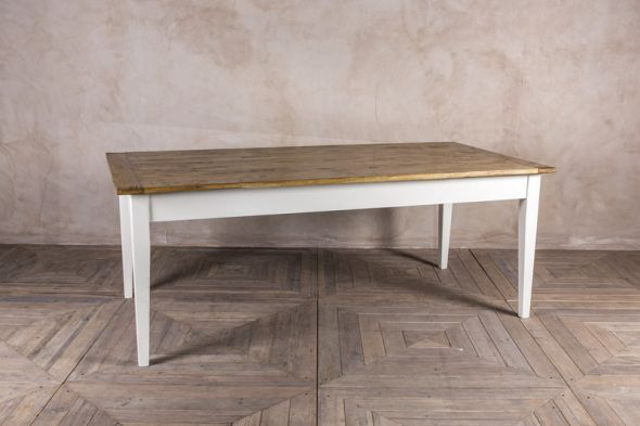 2m Farmhouse Pine and Oak Dining Table