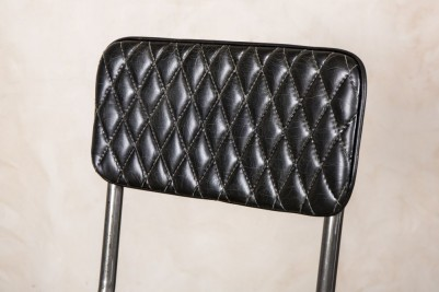 black quilted stools