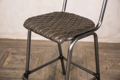 olive green leather stool