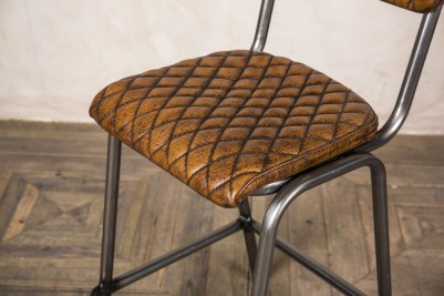 tan leather stool