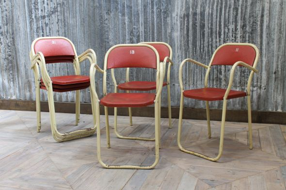 Steel Stacking Armchairs