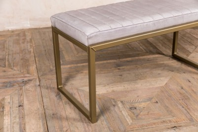 brass framed breakfast bench