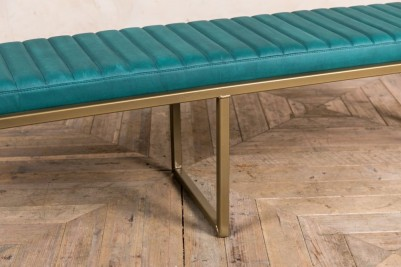 faux leather dining bench in undercool