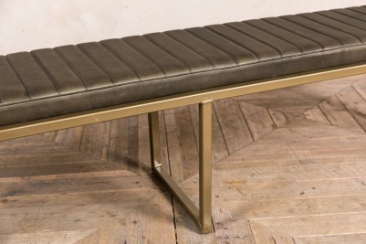 faux leather seat pad olive dining bench