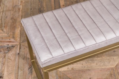 stone faux leather bench