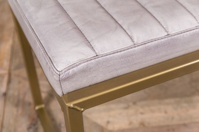 stone faux leather dining bench