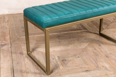 turqouise blue dining bench