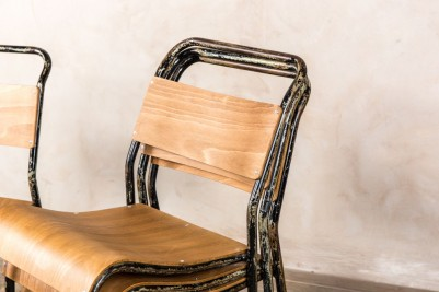 distressed stacking chairs
