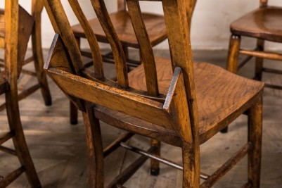 wooden vintage chapel chair
