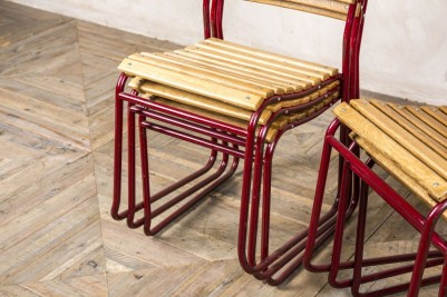 vintage frame stacking chair