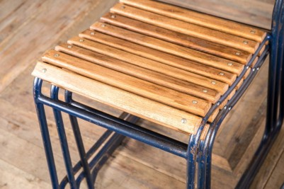 oak slatted stacking chair