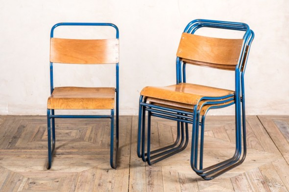 Vintage Plywood Stacking Chairs