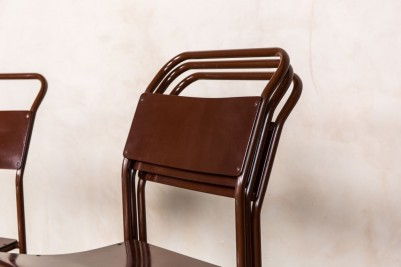 brown stacking chairs