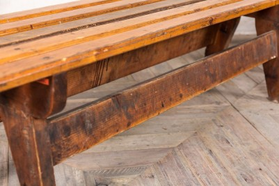 wooden bench seating