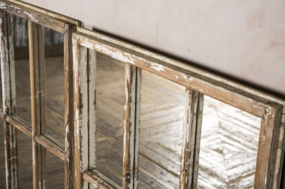 vintage mirrored window