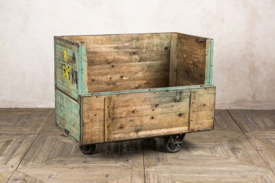 moveable wooden crate