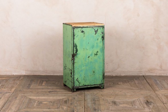 Distressed Green Locker Bin