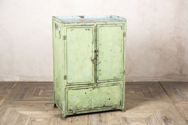 Distressed Green Industrial Style Waiter Station
