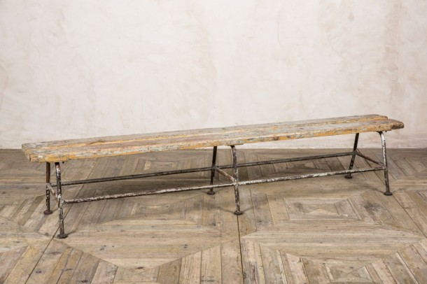 Vintage Distressed Metal Benches