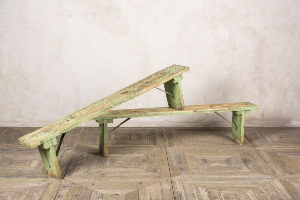 Industrial Style Wooden Benches