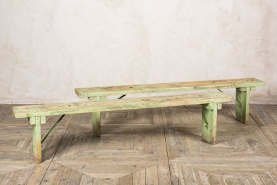 vintage industrial style wooden bench