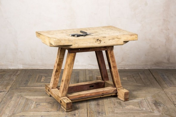 Rustic Butcher's Cutting Table