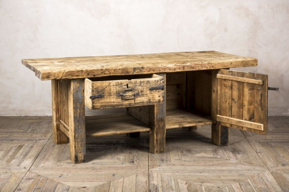 Large Pine Rustic Kitchen Island
