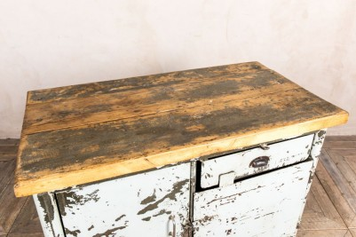 metal kitchen unit wooden top