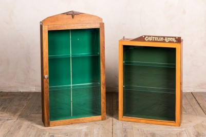 large and small retail display cabinet