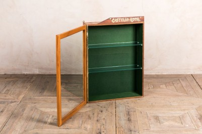 vintage glass fronted display cabinets
