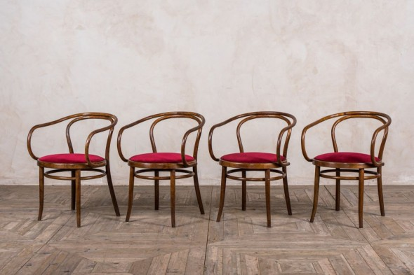 Vintage Mid-Century Thonet 209 Bentwood Chairs