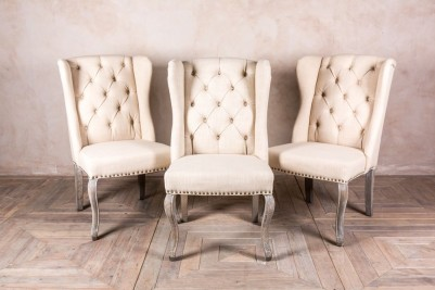 cream upholstered dining chairs