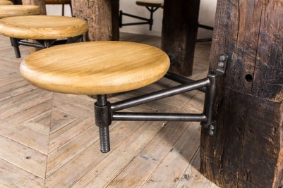 industrial style swing out seat table
