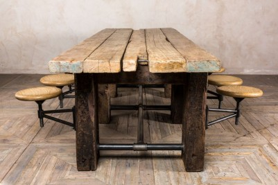 rustic style dining table
