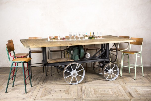 Industrial Vintage Engine Party Table