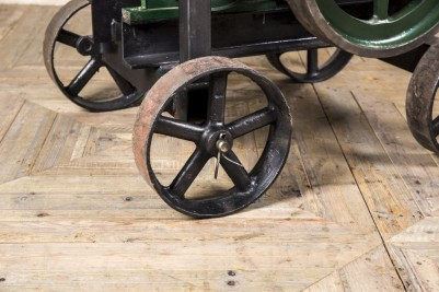 cast iron wheels engine table