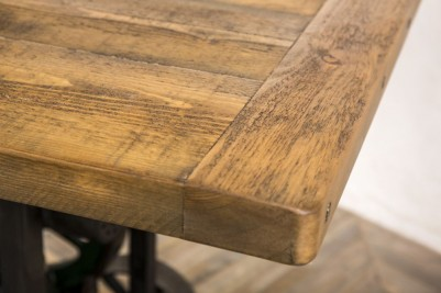 pine top industrial table