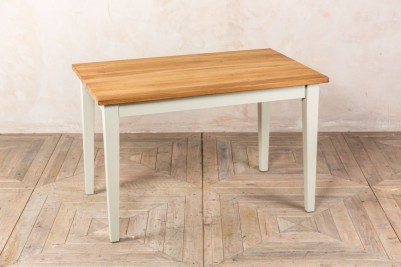 small oak kitchen dining table