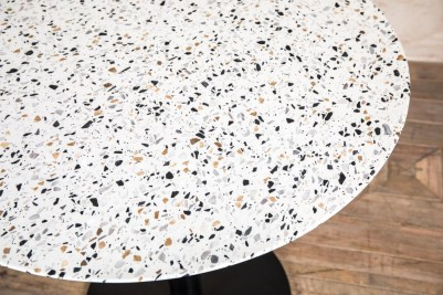 light stone terrazzo restaurant dining table